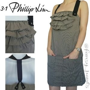3.1 Phillip Lim dress ruffle ribbon strap pockets